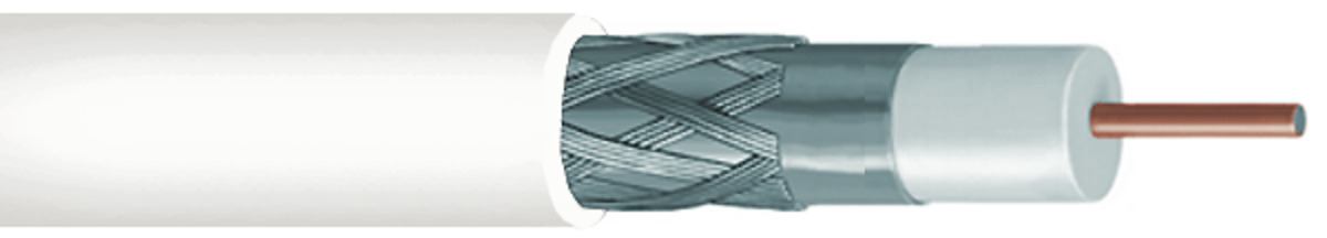 CommScope RG-6 Shielded Coaxial Cable White 60/% Plenum 2275V-WHT