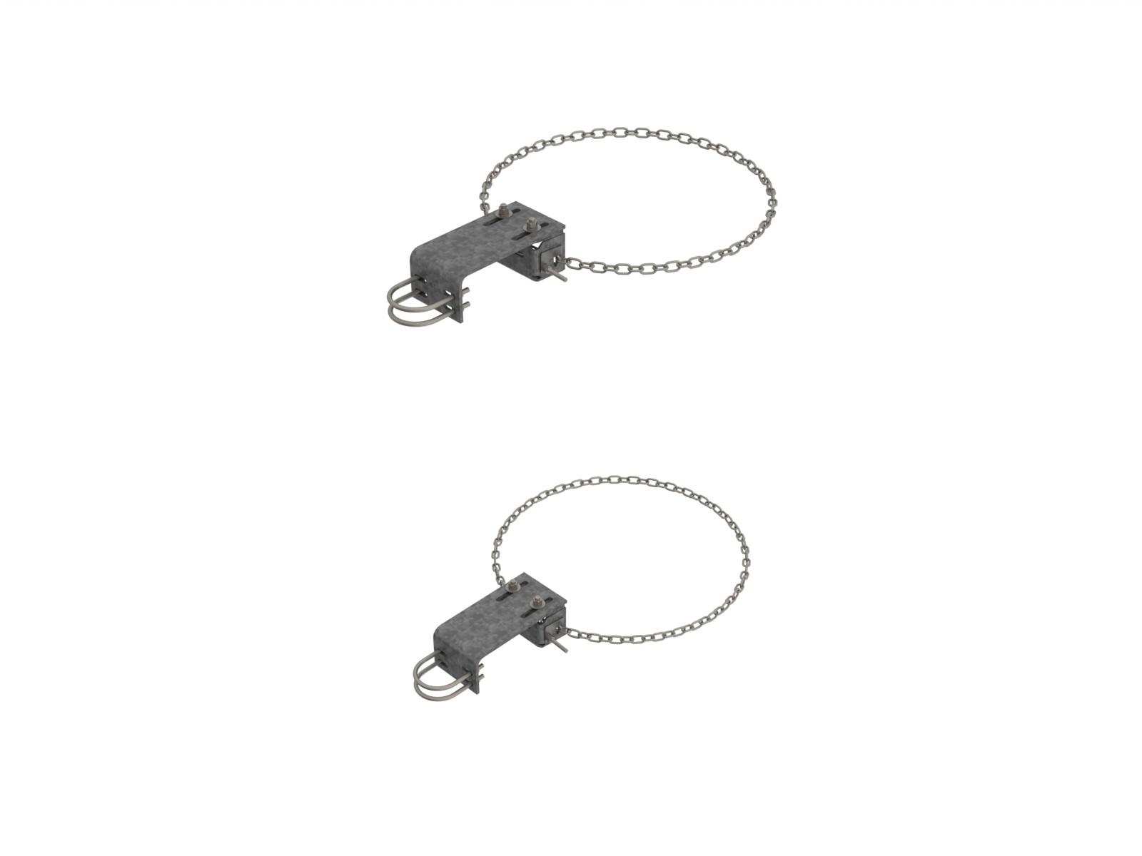 "1.25-3.5/"" OD Wood or Masonry Commscope DB365W Antenna Mounting Clamps Qty 2"