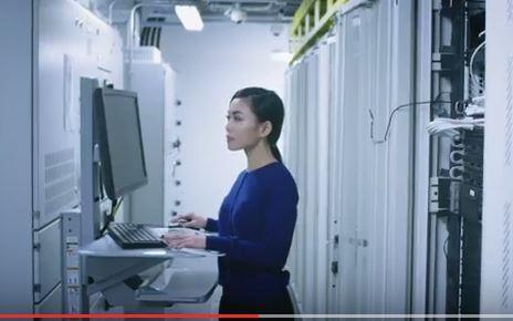 Woman-data-center-image